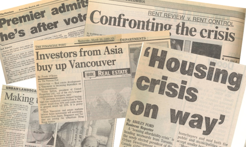 'Twas ever thus? Vancouver real estate headlines 30 years ago